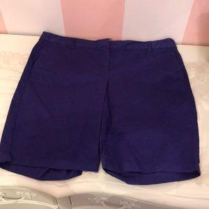 Purple Bermuda Shorts J Crew